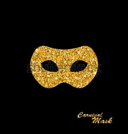 Stock photo: Golden Glittering Carnival or Theater Mask