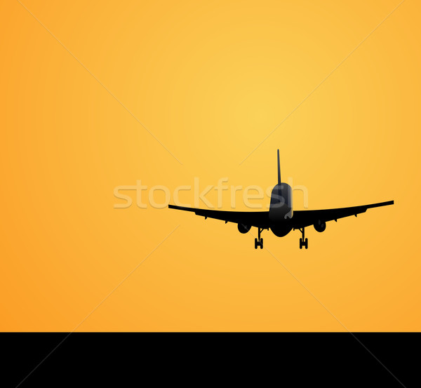 Plane against a decline Stock photo © smeagorl