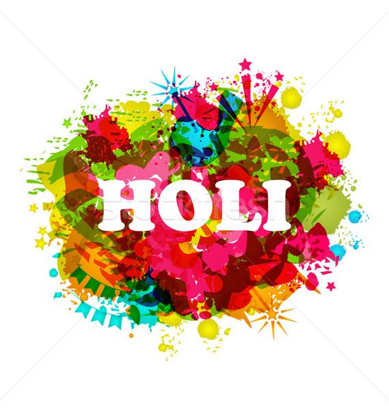 Indian Festival Holi Celebration Traditional Background Stock photo © smeagorl