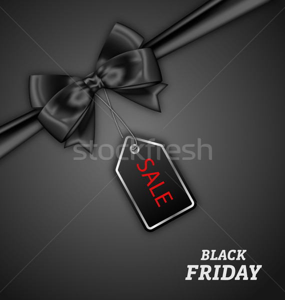 Sale Discount with Bow Ribbon for Black Friday Stock photo © smeagorl