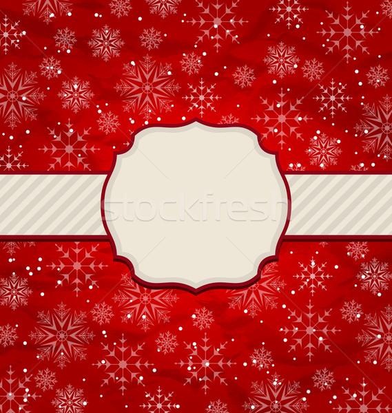 Foto stock: Navidad · vintage · invitación · ilustración · papel