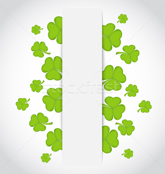 Greeting card with set shamrocks for St. Patrick's Day Stock photo © smeagorl