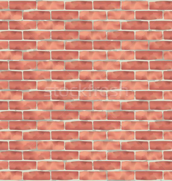 Brązowy murem grunge tekstury ilustracja streszczenie tle Zdjęcia stock © smeagorl