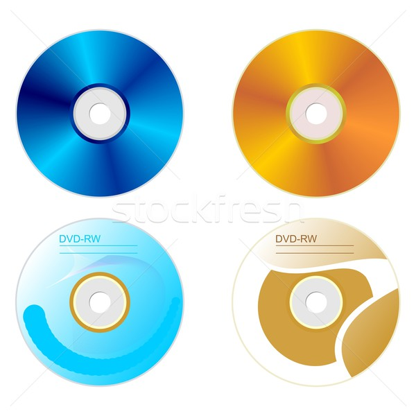 Set DVD disk with both sides Stock photo © smeagorl