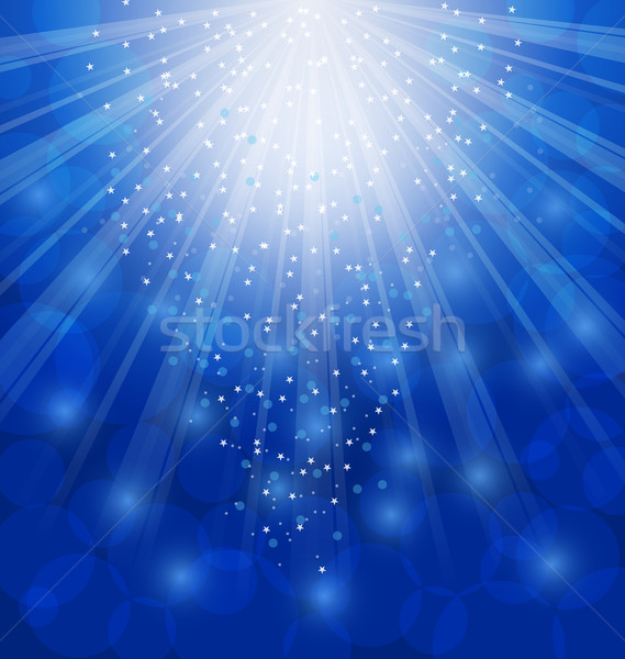 Shimmering Xmas Light Background with Rays, Winter Wallpaper Stock photo © smeagorl