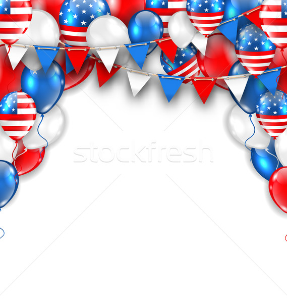 American Traditional Celebration Background for Holidays of USA Stock photo © smeagorl