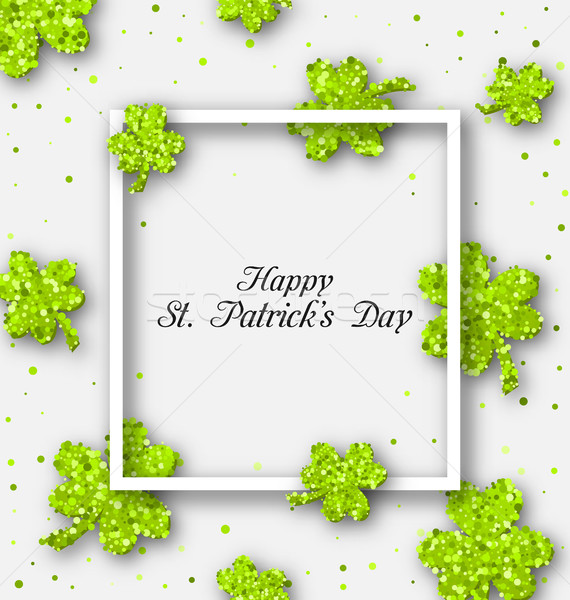 Abstract Banner with Clovers for Happy St. Patricks Day Stock photo © smeagorl