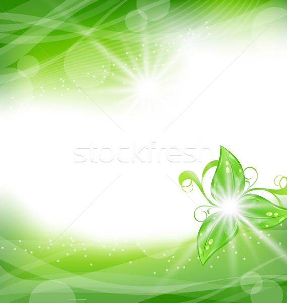 Környezetbarát zöld levelek illusztráció textúra természet terv Stock fotó © smeagorl
