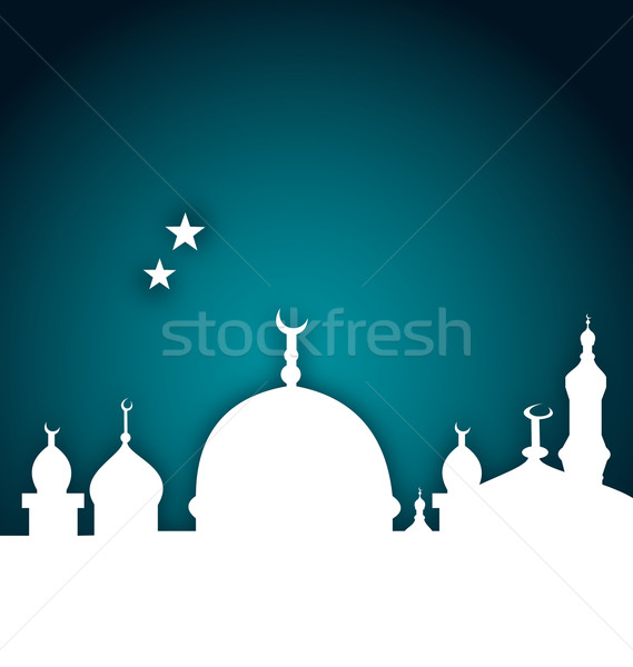 elegant card with beautiful mosque Stock photo © smeagorl