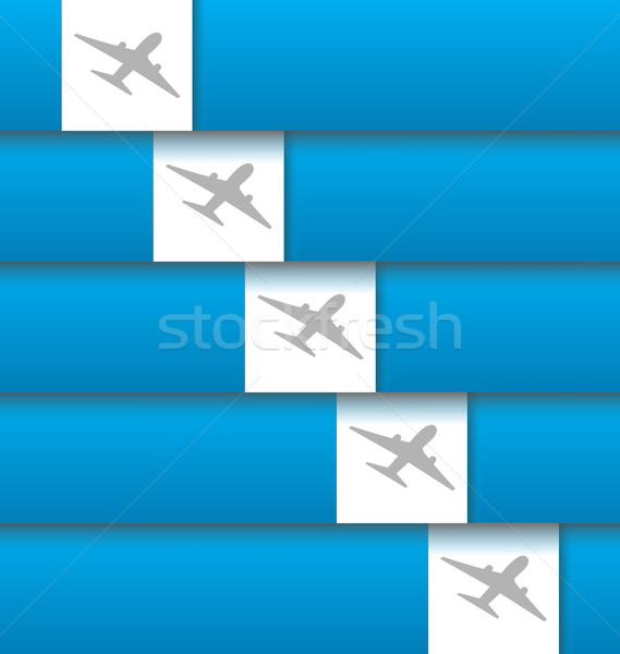 набор Этикетки авиация компания иллюстрация Сток-фото © smeagorl