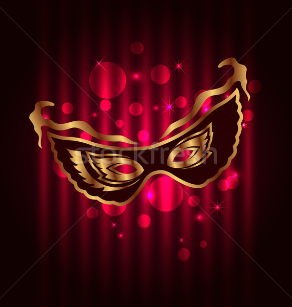 Carnaval theater masker illustratie veer Stockfoto © smeagorl