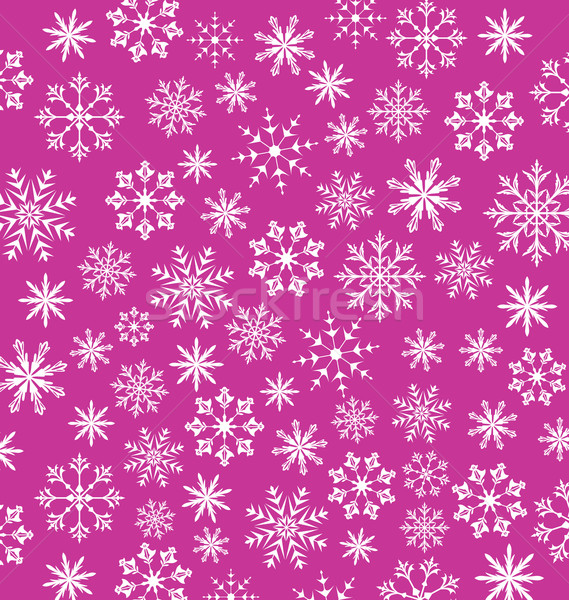 Noel pink wallpaper, snowflakes texture Stock photo © smeagorl