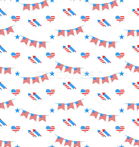 Americano patriottico colori illustrazione party Foto d'archivio © smeagorl