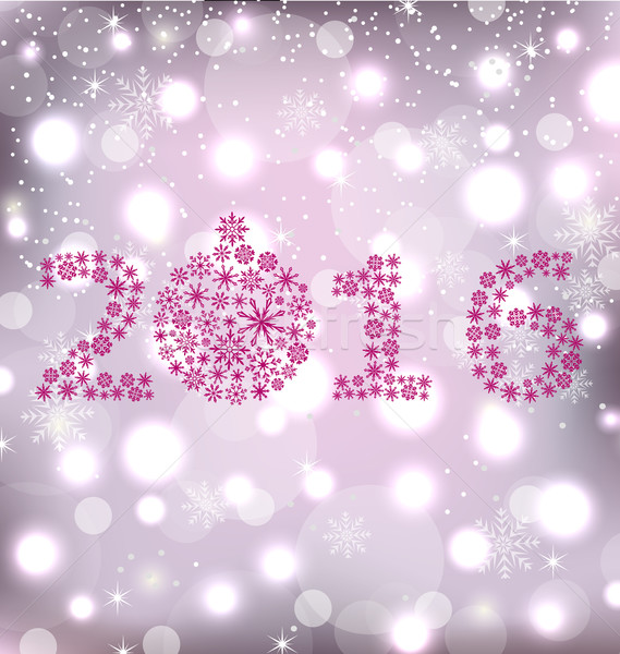 Brillo año nuevo tarjeta ilustración magia Foto stock © smeagorl