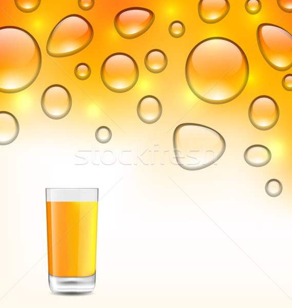 Clean Water Droplets with Orange Juice Stock photo © smeagorl