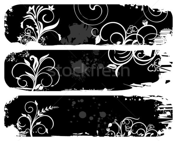 Résumé grunge bannières illustration vecteur Photo stock © smeagorl