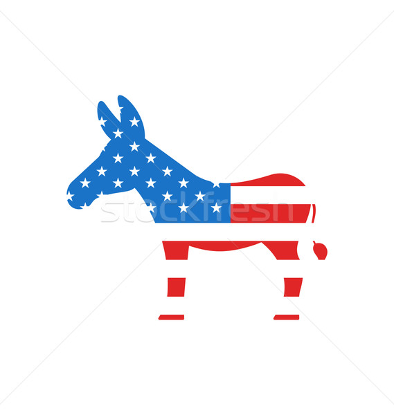 Donkey as a Symbol of American Democrats Stock photo © smeagorl