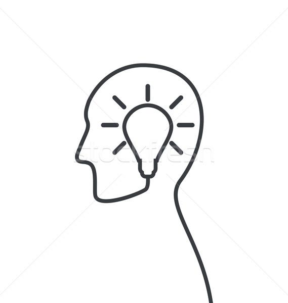 Icon procede ideeën oplossen problemen geboorte Stockfoto © smeagorl