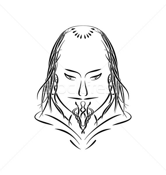 Prens kilise tarihsel adam siyah Stok fotoğraf © smeagorl