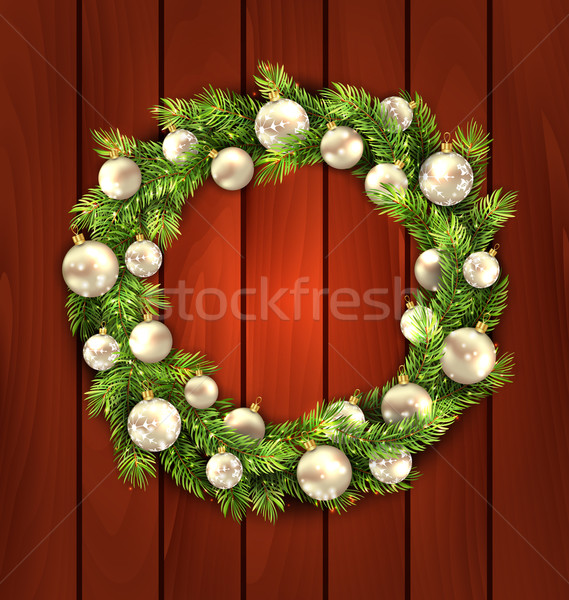 Christmas Wreath with Balls Stock photo © smeagorl