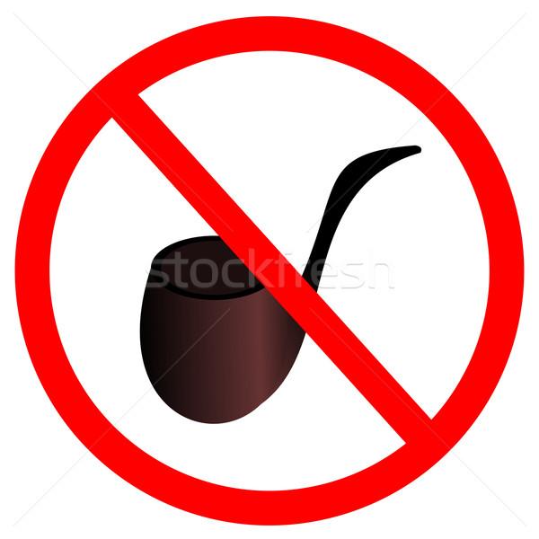 Teken stoppen rook tabak Rood zwarte Stockfoto © smeagorl