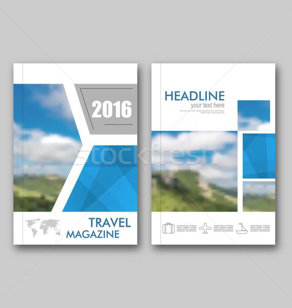 Brosúra sablon utazás magazin borító terv Stock fotó © smeagorl