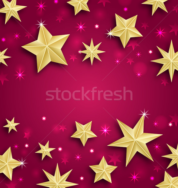 Abstract Background Made of Golden Stars Stock photo © smeagorl