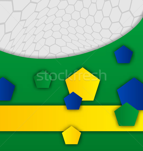 Stock photo: Abstract brazilian background with geometric figures