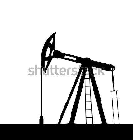 Oil pump jack for petroleum isolated on white background Stock photo © smeagorl