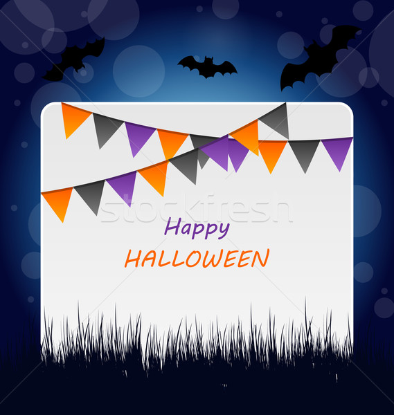 Halloween Invitation with Bunting Pennants Stock photo © smeagorl