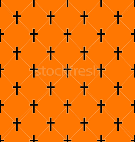 Seamless Texture with Crosses of Graves Stock photo © smeagorl