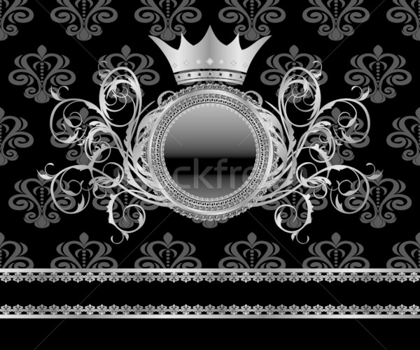 Zilver vintage frame sjabloon illustratie textuur Stockfoto © smeagorl