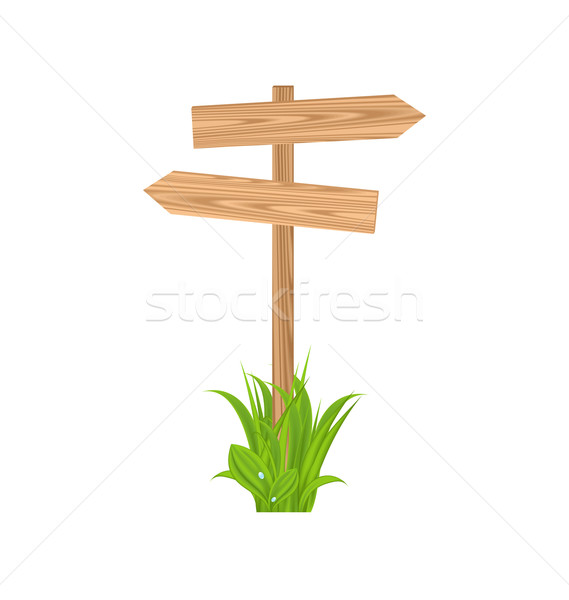 Wooden signboard for guidepost, grass Stock photo © smeagorl