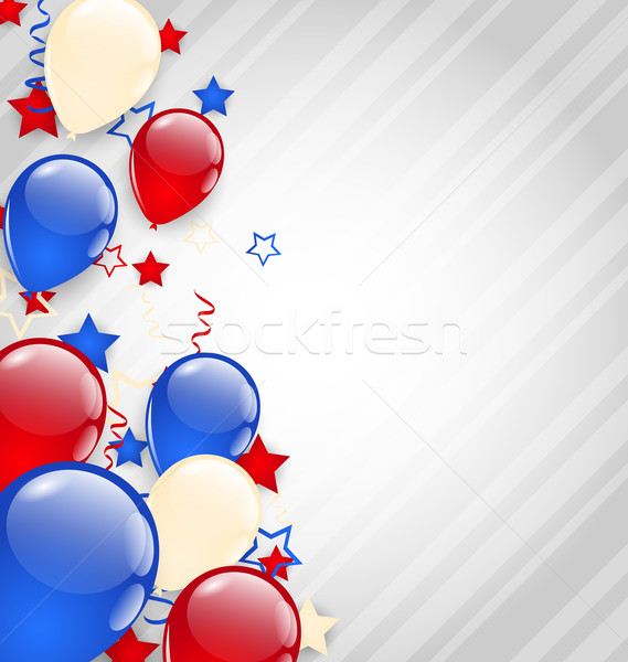 American background with colorful balloons for 4th of July Stock photo © smeagorl