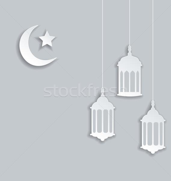 Arabic background for Ramadan Kareem Stock photo © smeagorl
