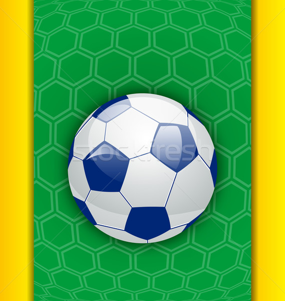 Abstract brazilian background with ball  Stock photo © smeagorl