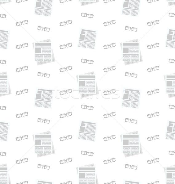 газет очки бизнеса иконки Сток-фото © smeagorl