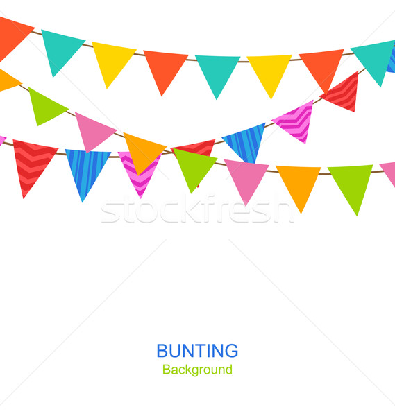 Set Bunting Pennants Stock photo © smeagorl