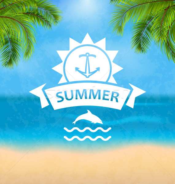 Summer Template of Holidays Design and Typography Stock photo © smeagorl