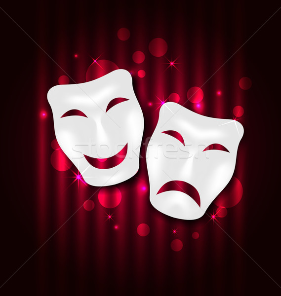 Comedy and tragedy theatre masks Stock photo © smeagorl