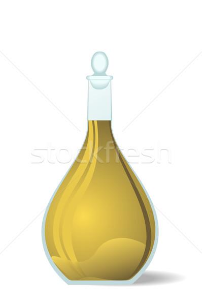 Illustration white wine decanter Stock photo © smeagorl