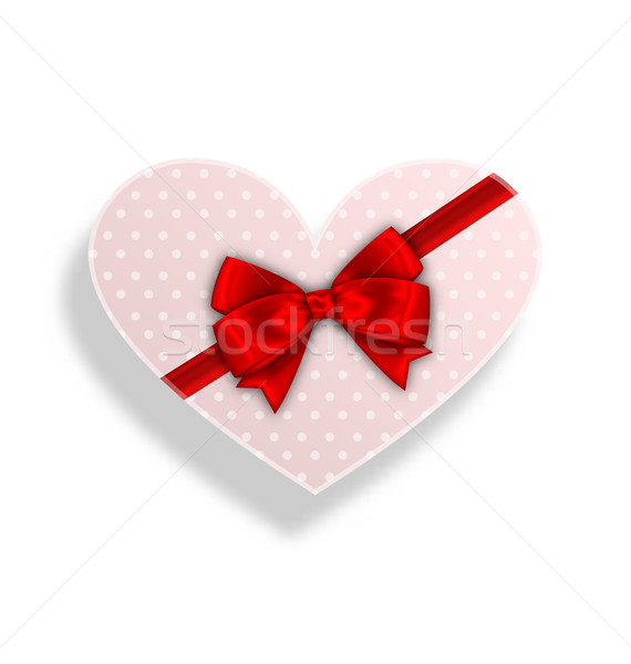 Romantic Gift Box with Bow Ribbon for Valentines Day Stock photo © smeagorl