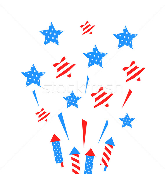 Usa Background with Rockets and Stars Stock photo © smeagorl