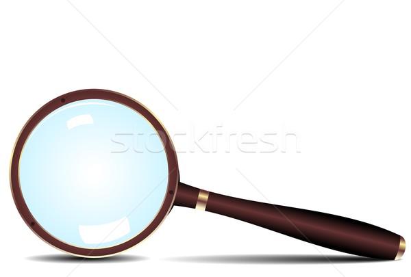 Magnifying glass icon Stock photo © smeagorl
