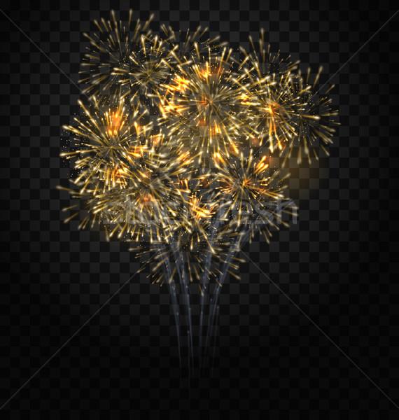 Festive Firework Bursting, Holiday Background Stock photo © smeagorl