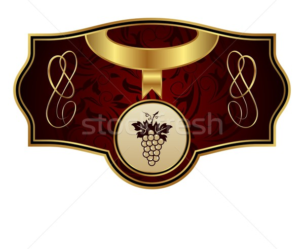 vintage gold label with grapevine Stock photo © smeagorl
