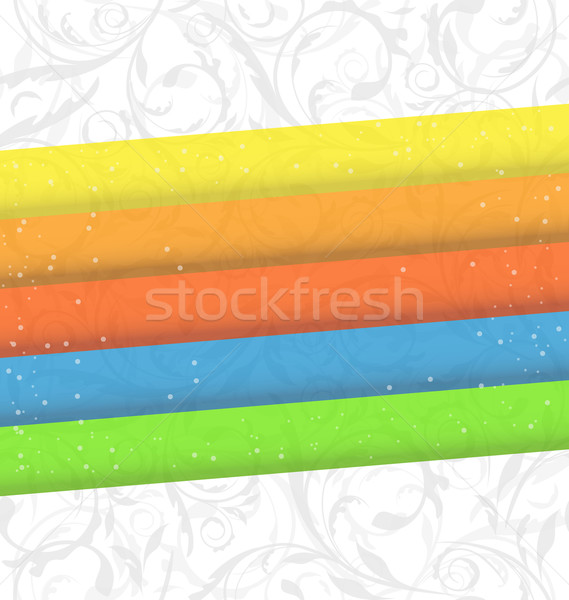 Colorful business card, abstract background Stock photo © smeagorl