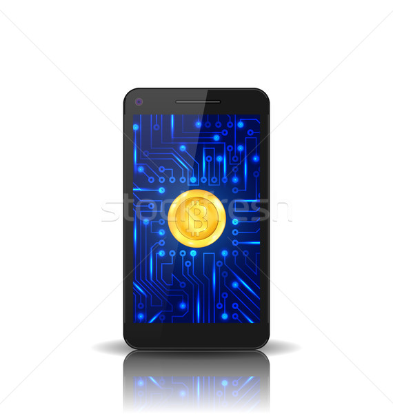 Bit-coin, BTC, Bit Coin, Crypto Currency, Concept of Mining Digital Money, Virtual Payment System Stock photo © smeagorl