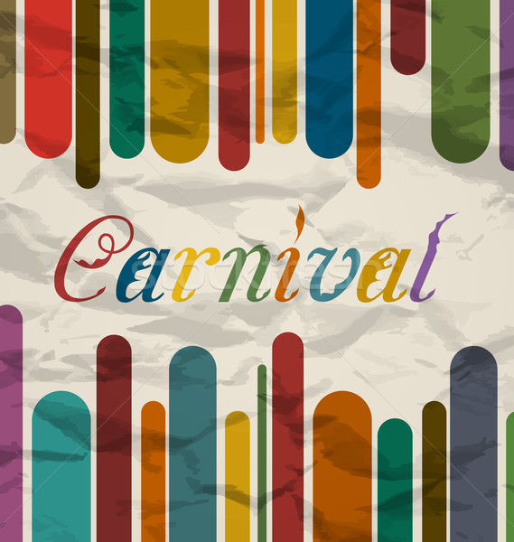 Old colorful card with text for carnival festival Stock photo © smeagorl
