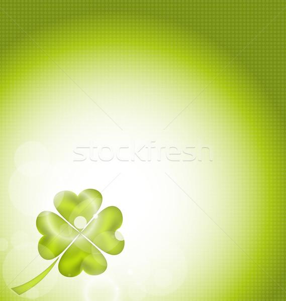 Doğa yonca Aziz Patrick Günü örnek imzalamak yeşil Stok fotoğraf © smeagorl